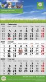 Standard 2 plus  3-Monats-Wandkalender