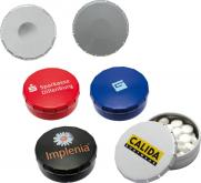Klick-Dose-45 Pfefferminzdragees inkl. 1-farb. Druck